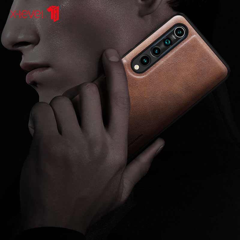 For Xiaomi 10 Pro Phone Case Original Luxury PU Leather Slim For Mi10 Back Cover Full package Soft edge Free Shipping X-Level