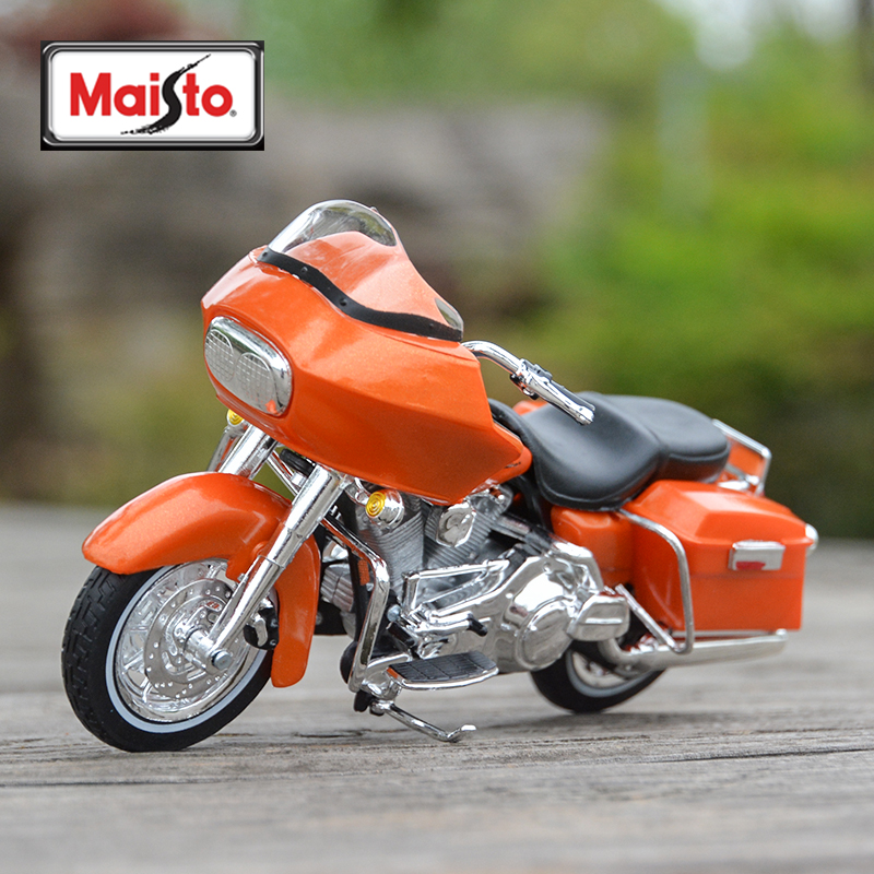 Maisto 1:18 2002 FLTR Road Glide Diecast Alloy Motorcycle Model Toy