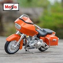 цена на Maisto 1:18 2002 FLTR Road Glide Diecast Alloy Motorcycle Model Toy