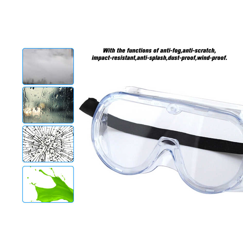 3M 1621 مكافحة تأثير مكافحة الكيميائية سبلاش نظارات حماية الاقتصاد واضح عدسة العين حماية الغبار العمل مختبر نظارات