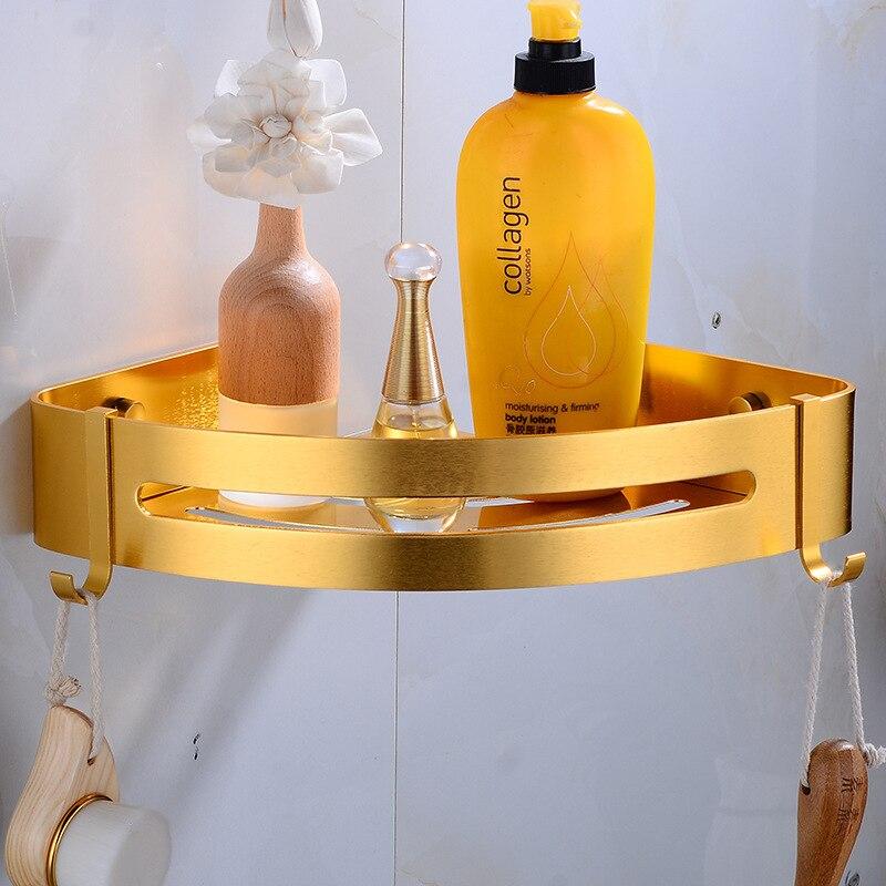 Alumimum Angle Frame Bathroom Triangle and Square Basket Hole Punched Bathroom Storage Shelf Sanitary Ware Bathroom Fixture