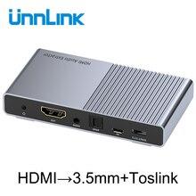 Unnlink HDMI Audio Extractor Converter UHD4K@30 HIFI 5.1ch SPDIF Optical Toslink RCA UHD4K for Chromecast Fire TV Stick Box Roku