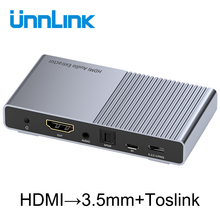 Unnlink HDMI אודיו Extractor ממיר UHD4K @ 30 HIFI 5.1ch SPDIF האופטי Toslink RCA UHD4K עבור Chromecast אש טלוויזיה מקל תיבת Roku