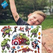Hasbro Spiderman Marvel Ironman Hulk Children Cartoon Temporary Tattoo Sticker For Boys Toys Waterproof Party Kids Gift