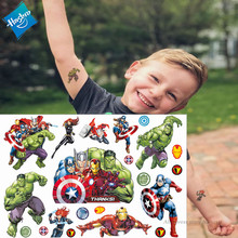 Hasbro Spiderman Marvel Ironman Hulk Kinderen Cartoon Tijdelijke Tattoo Sticker Voor Jongens Cartoon Speelgoed Waterdicht Party Kids Gift()