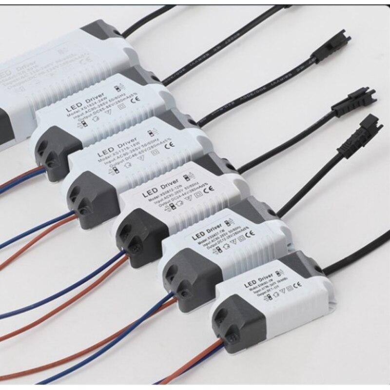 1 stücke LED Licht Transformator Netzteil Adapter Für Led Lampe/birne 1 3W 4 7W 8 12W 13 18W 18 24W Sichere Kunststoff Shell Led treiber|Lichttransformatoren|   -