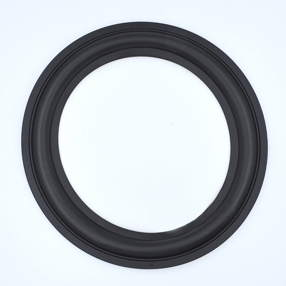 Easy Install Speaker Accessories Durable Surround Replacement Parts Round Practical Black Repairing 8inch Rubber Edge
