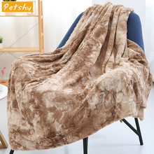 Petshy Comfortable Faux Fur Blanket Plush Crystal Fleece Winter Thick Warm Blankets Quilt Shawl Cover Bedding Accessories