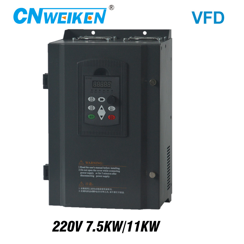 inverter single phase 7.<font><b>5kw</b></font>/11kw 220v frequency converter 3 phase frequency inverter for <font><b>motor</b></font> speed controller VFD image