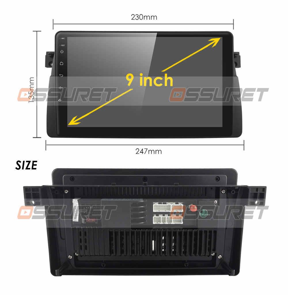 Android 10 4G GPS Người Chơi Cho Xe BMW E46 M3 Mg ZT Rover 75 GPS Stereo Âm Thanh Điều Hướng Đa Phương Tiện màn Hình Bị Đầu USB OBD2 DAB +