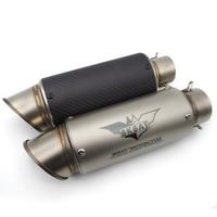51 61mm Akrapovic Exhaust Modified Muffler Pipe for yamaha yfz 450 BENELLI trk502 HONDA st1100 KAWASAKI zxr 400 cs PROJECT PIPE
