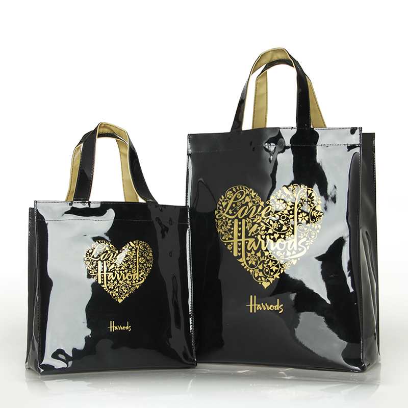Luxury PVC Handbag Durable Waterproof Women Tote Shopping Bag Reusable Eco Friendly London Shopper Bag Shoulder Bag Handbag