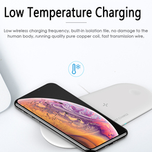 Get more info on the 3 in 1 10W  Wireless Charger Station Stand Pad for iPhone Apple Watch Airpods Charging Dock Stand