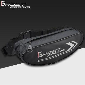 GHOST RACING Motorcycle Waterproof Moto Tank Bag Black Waist Motorbike Handlebar Single Shoulder Backpack