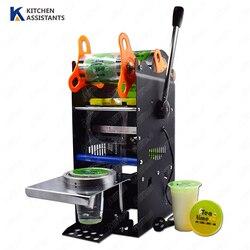 Ручная упаковочная машина WY802F для пластиковых или бумажных чайных чашек, 220 В 110 В, ручная машина для запечатывания чашек с деталями, пленка д...