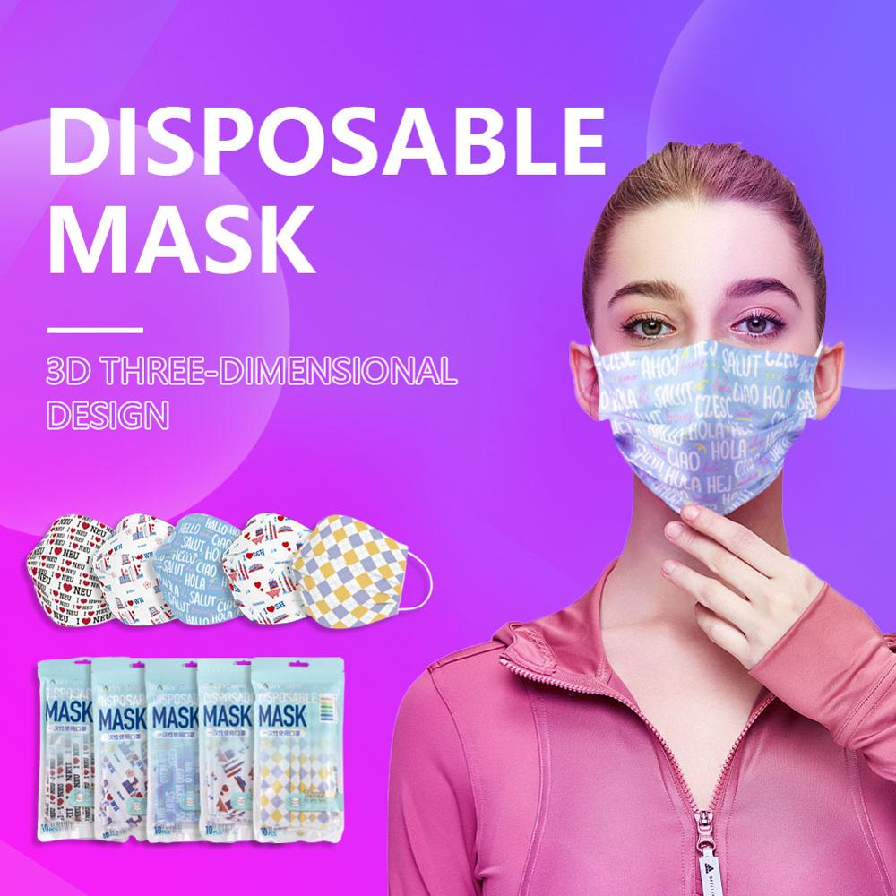 50Pcs Mouth Face Mask Disposable Summer Breathable Masks Customized Special Hello Plaid Stripe Country City Universe Mask|Masks|   - AliExpress