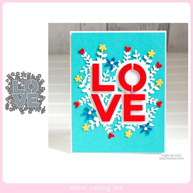 LOVE Words Lace Set Metal Cutting Dies For DIY Scrapbooking Photo Album Decorative Embossing PaperCard Crafts Die Cut 2020
