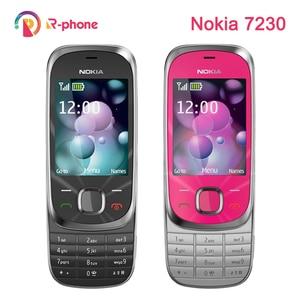 Image 1 - 단장 한 원래 노키아 7230 2G GSM 잠금 해제 휴대 전화 및 영어 러시아어 히브리어 아랍어 키보드