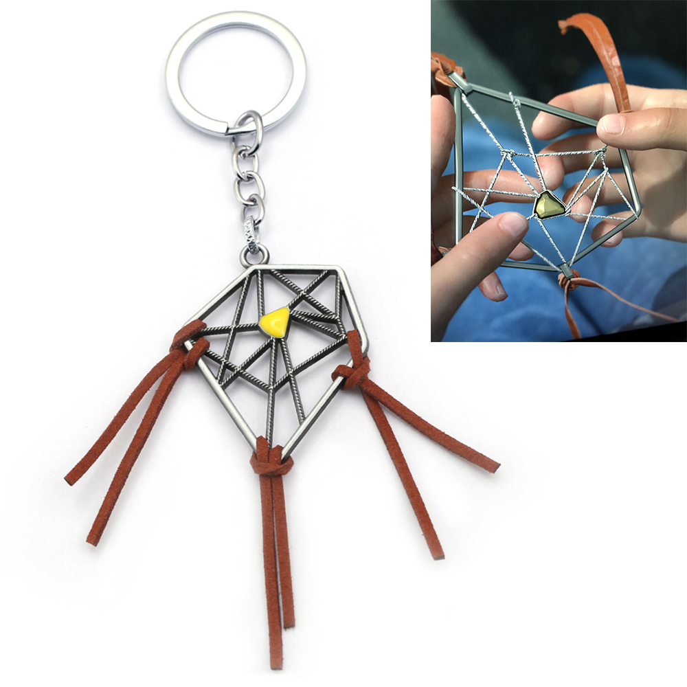 Game Death Stranding Dreamcatcher Keychain Men Metal Connections Sam Porter Bridges Key Chain Bag Pendant Kojima Llaveros