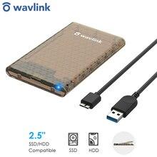 "Wavlink USB 3.0 to SATA 2.5"" Tool-free External Hard Drive Enclosure USB 3.0 Adapter 5Gbps SSD Disk HDD Box 4TB UASP Protocol"