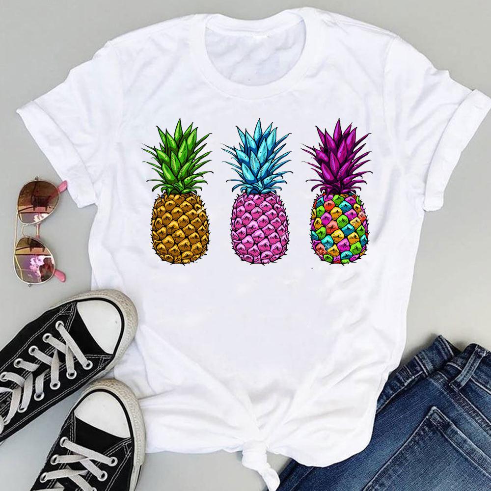 Women 2021 Strawberry Fruit Casual 90s Cartoon Short Sleeve Graphic Summer Fashion Print Female Clothes Tops Tees Tshirt T-Shirt 6