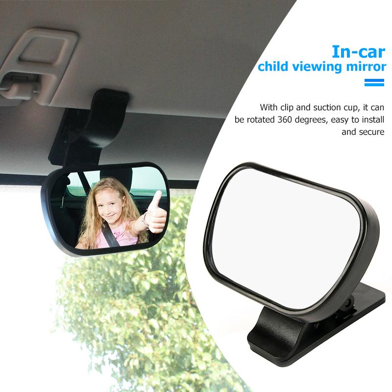 View Infant in Rear Baby Car Mirror Facing for Backseat 360 Degree Rotation