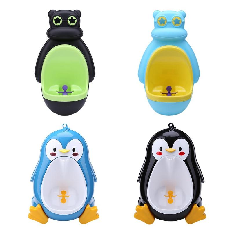 Baby Urinal Babies Boys Potty Toilet Training Frog Penguin Animal Shape Kids Children Stand Vertical Urinal Infant Boy Penic Pee