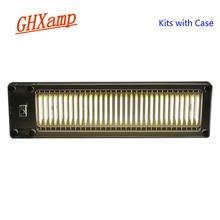 Ghxamp nível indicador kits 32 bit luz de nível ativado por voz além de espectro led cerâmica mic amplificador casa feita diy 5 v novo
