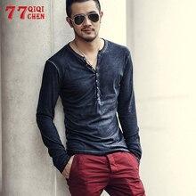 Long Sleeve T Shirt Men Casual Cotton High Quality Slim Tops