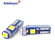 500 Uds coche Led T5 3 SMD LED W3W 37 73 74 3030 instrumento EDE cuña Panel velocímetro Tacho medidor lámpara de racimo Dash bombillas de luz LED