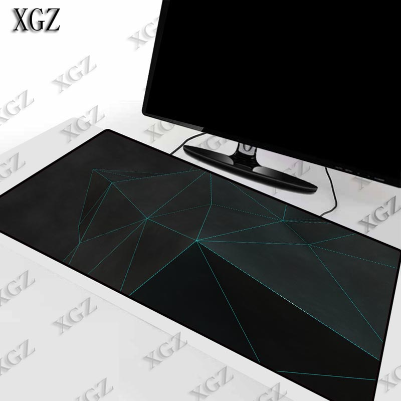 XGZ Abstract Black Texture Gaming Keyboard Large Mouse Pad Gamer Game Lock Edge   Anime Pad Mat For CSGO LOL Dota2