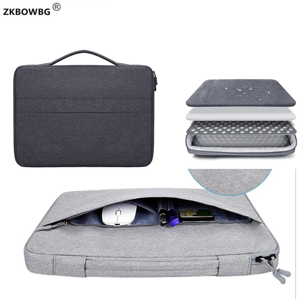 Handbag Briefcase Bags For Macbook Retina 13 15 Laptop Bag 14 Notebook Case For Xiaomi Air 12.5 13.3 15.6 Surface Pro 4 5 6