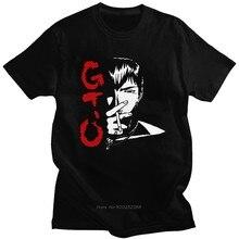 Camisa de manga curta de manga curta de manga curta de gto camiseta de algodão de gola alta japão eikichi camiseta harajuku