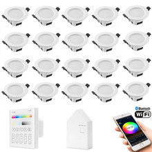 20X RGB Warm Cool White 3 in 1  LED Ceiling Lamp Down Light WIFI / Bluetooth Mesh /Touch Panel/APP/Voice Controller Timer Dimmer