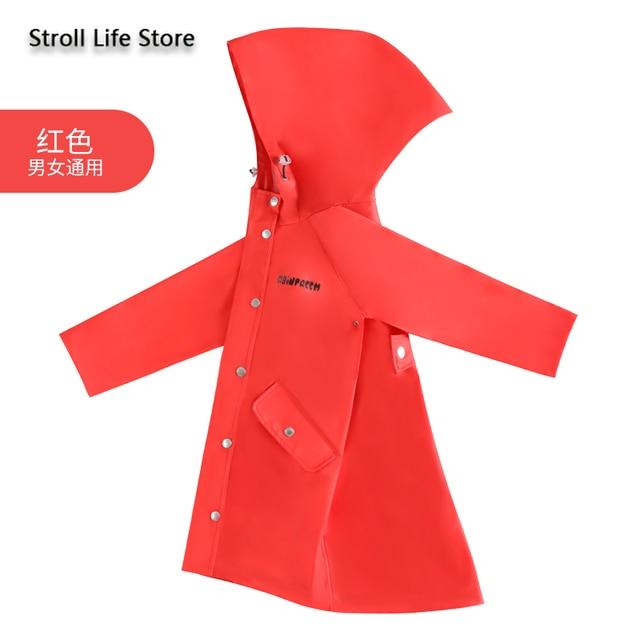 Waterproof Cute Long Raincoat Kids Yellow Pink Rain Ponch Jacket  Rain Partner Children Windbreaker Capa De Chuva Birthday Gift 5