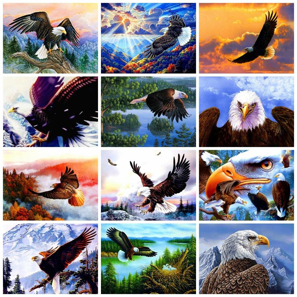 5D DIY Full Drill Diamond Painting American Eagle Animals Cross Stitch Kits