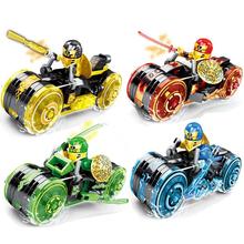 4 rodzaje Ninja Motor Model motocykla figurki klocki dla dzieci klocki zabawki prezent dla dzieci chłopców tanie tanio CN (pochodzenie) Unisex 6 lat Mały budynek blok (kompatybilne z Lego) Certyfikat BLOCKS Z tworzywa sztucznego
