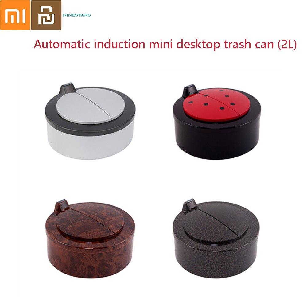 Xiaomi Ninestars NSD inteligentny indukcyjny na blat mini kosz na śmieci stół kosz na śmieci cukierki wiadro do przechowywania