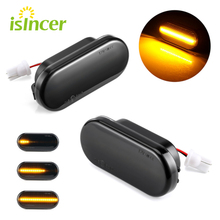 2 pieces Turn Signal Lights Amber For Ford  Focus MK2 Galaxy C Max Dynamic LED Side Marker For SEAT Leon Toledo 1M Ibiza 6L