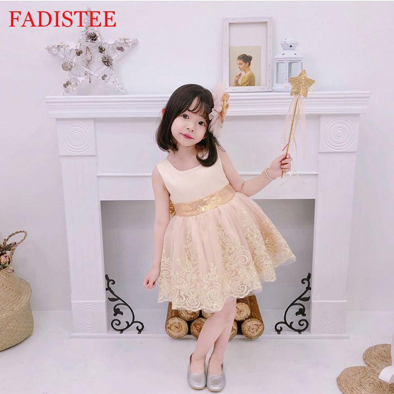 New Style Lace Flower Girls Dress For Wedding First Holy communion Party Gown платье для девочки Birthday Party Dress