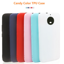 Cute Candy Color Soft Silicone Phone Case For Motorola MOTO G5S E5 E4 Plus Z2 Play Solid Matte TPU Slim Back Cover Fundas