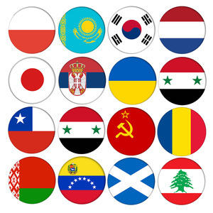 T11 Ukraine Venezuela Korea Belarus Kazakhstan Syria Czech Chile Lithuania Country Flag Badges Backpack Icons Brooch Pins pride(China)