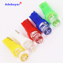 100pcs Car T5 37 58 70 license plate light instrument map Dashboard Wedge LED Bulb car styling Lamp white red green blue yellow