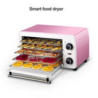 New 5-layers Stainless Steel food Dehydrator  Snacks Food Dryer Fruit Vegetable Herb Meat Pet food Drying Machine 220v 300w