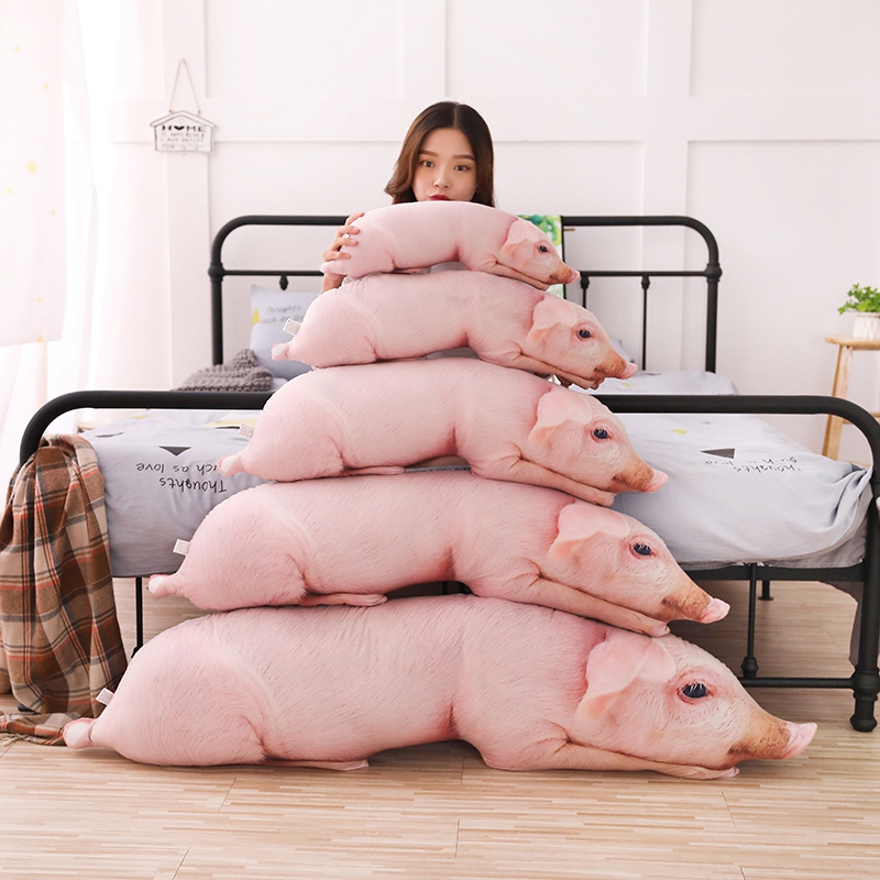 Simulated Big Long Pig Plush Pillow Stuffed Animals Pillows Kids Adults Pets Bolster Funny Sofa Bed Description Friend Gifts