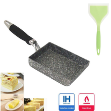 Square Non-Stick Fried Eggs Pans Aluminium Alloy Japanese-Style Frying Pan Fried Eggs Pans Maker Breakfast Pot Mini Cooker Pan