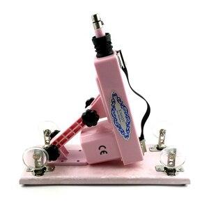 Image 3 - ENHOT sex machine dla kobiet z wieloma darmowymi dildo toy dowolne kraje adapter i ładowarka automatyczny chowany pistolet do pompowania A5 002