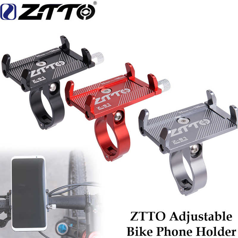 ZTTO aluminum alloy bike phone holder Reliable Mount Universal  Mobile Cell GPS Metal Motorcycle Holder on MTB Road bike bracket