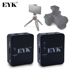 Image 1 - EYK EG02 ميكروفون لاسلكي احترافي UHF Lavalier ، للهواتف الذكية ، وكاميرات DSLR ، وتسجيل مباشر ، و Vlog ، و YouTube ، وبطارية ليثيوم