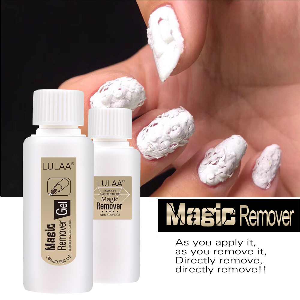 2 Types Magic UV Gel Nail Remover Cleaner Nail Decorations Accessories Polish Gel Nails Art Burst Remover Manicure Tools TSLM2